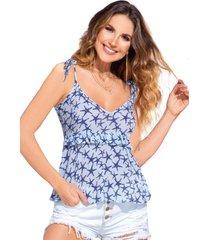 blusa para mujer estampado - azul claro atypical
