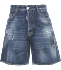 dsquared2 denim shorts wide leg