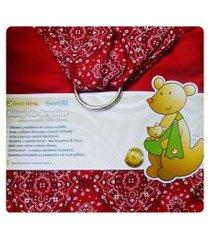 sling de argolas best sling vermelho bandana com ombreira