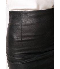 nude high-waisted pencil skirt - black