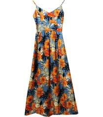 vestido flowers celeste new jacinta tienda