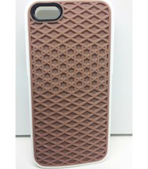 brown/white soft silicone waffle shoe sole case for iphone 5/5s