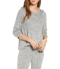 women's ugg pilar hoodie, size large - grey