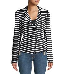 joie striped blazer