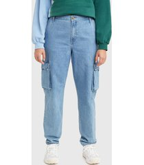 jeans levis stay cool azul - calce straight fit