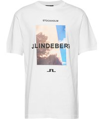 michael-distinct cotton t-shirts short-sleeved wit j. lindeberg