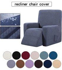 silla reclinable resistente al agua ala muebles sofá salón funda protector de la cubierta - café