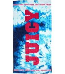 "juicy couture tie dye splash beach towel, 36"" x 68"" bedding"