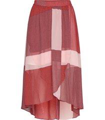 caitlin knälång kjol röd mbym