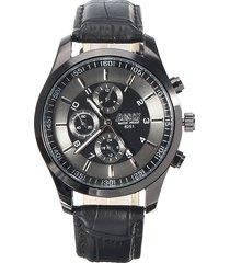 bosck uomo orologio in acciaio inossidabile con cinturino in pelle regalo a natale