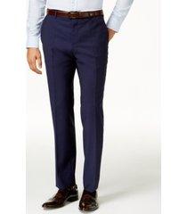 hugo men's blue slim-fit pants