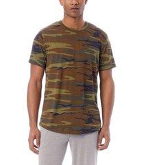 men's eco-jersey printed shirttail t-shirt