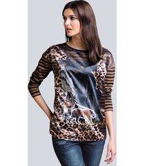 shirt alba moda marine::cognac