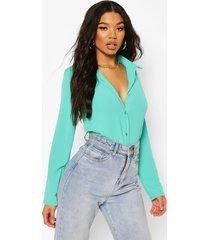 woven shirt, turquoise