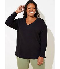 loft plus v-neck tunic sweatshirt