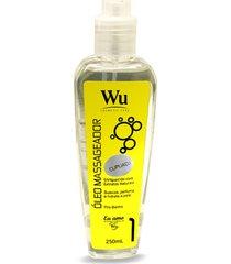 óleo massageador corporal cupuaçu wu 250ml desodoriza perfuma suaviza pele mantém umidade natural