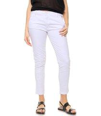pantalón blanco etam jeans bordado