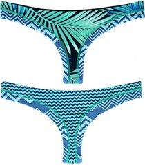 bikini calzón colales estampado verde samia