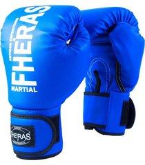 luva boxe muay thai fheras new trade azul 14 oz