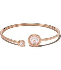 chopard 18kt rose and white gold diamond happy spirit bracelet - pink