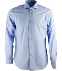 borriello napoli marechiaro collar shirt, hydro washed with hand-sewn mother-of-pearl buttons