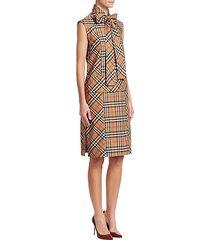 luna sleeveless tie-neck dress