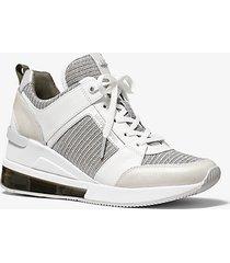 sneaker georgie extreme in mesh metallizzato con glitter e pelle