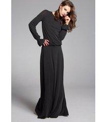sukienka maxi black ink