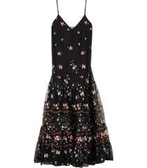 tory burch embroidered tulle dress