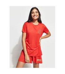 """t-shirt change your mindset"""" manga curta decote careca mindset vermelha"""""""