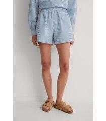 na-kd shorts med elastisk midja - blue