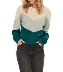 women's vero moda plaza bloused sleeve sweater, size large - ivory