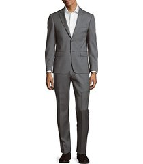 textured wool suit