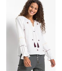 blouse met borduursel