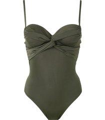 brigitte twisted detail swimsuit - green