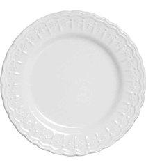 conjunto de pratos sobremesa nobre branco scalla