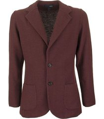 single-breasted merino wool knit jacket