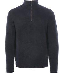 armor lux chateaulin quarter zip sweatshirt | navy | 06003-d85