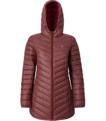 abrigo pluma mujer agami morado doite