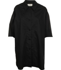 lemaire twisted maxi shirt
