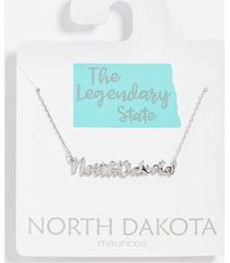 maurices womens dainty north dakota necklace gray