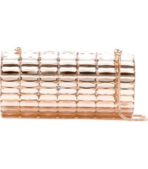 isla mirrored clutch - metallic