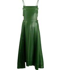 3.1 phillip lim spaghetti strap long dress - green
