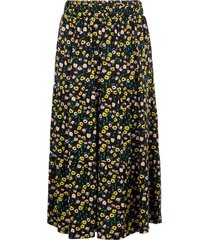 middellange rok bloemenprint