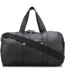 maison margiela textured zipped duffle bag - black