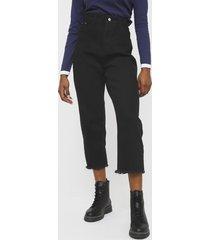 jeans brave soul negro - calce holgado