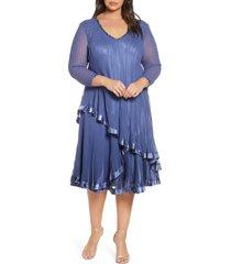 plus size women's komarov beaded tiered chiffon dress