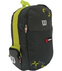 mochila esportiva ix12239a cinza/verde - wilson