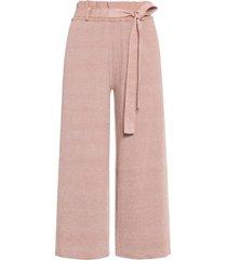 calça feminina clochard tricot - rosa