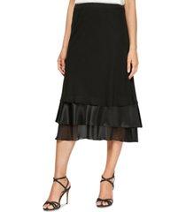 alex evenings triple-tier a-line skirt